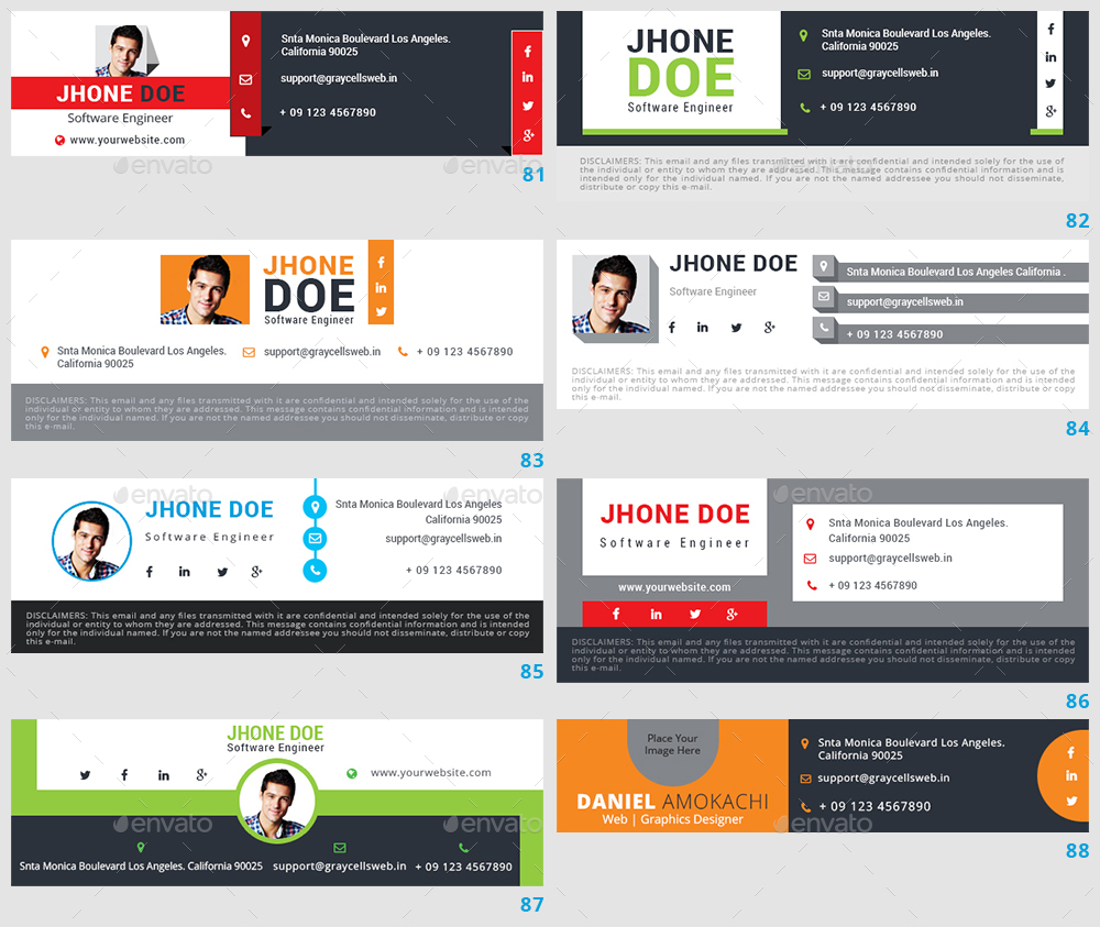 1127 Email Signature by graycells-graphic | GraphicRiver
