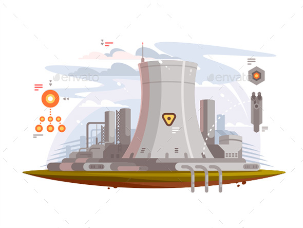 Powerful Nuclear Reactor - Objects Vectors