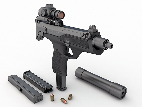 "Model Russian submachine gun AEK 919K  ""Kashtan"" - 3DOcean Item for Sale"