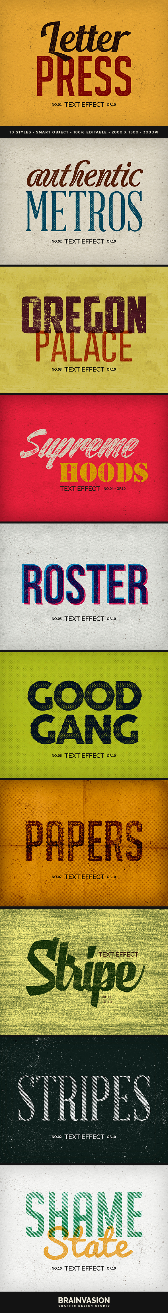 Vintage Letterpress Text Effects - Text Effects Actions