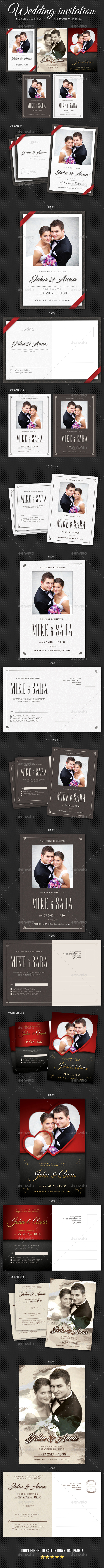4 Wedding Invitation Bundle