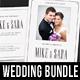 4 Wedding Invitation Bundle - GraphicRiver Item for Sale