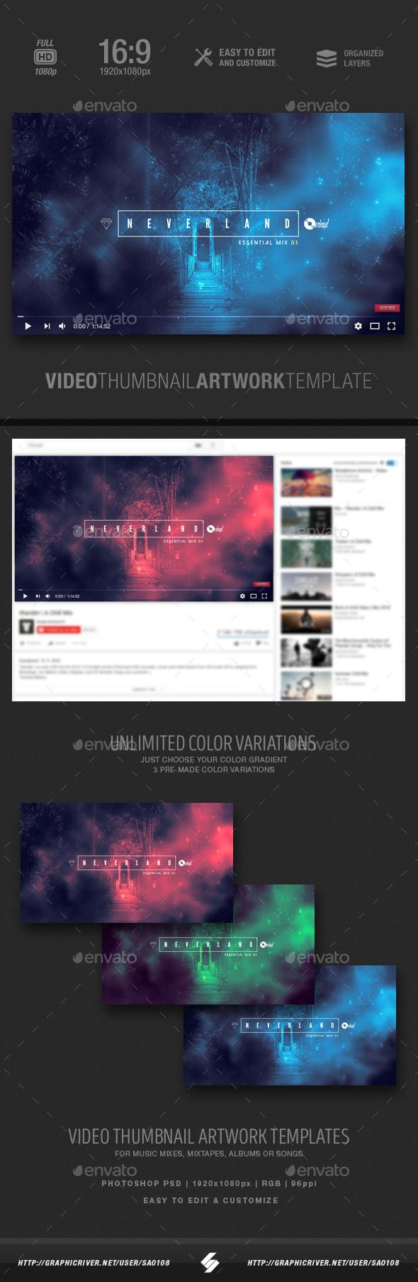 Neverland - Video Thumbnail Artwork Template - YouTube Social Media