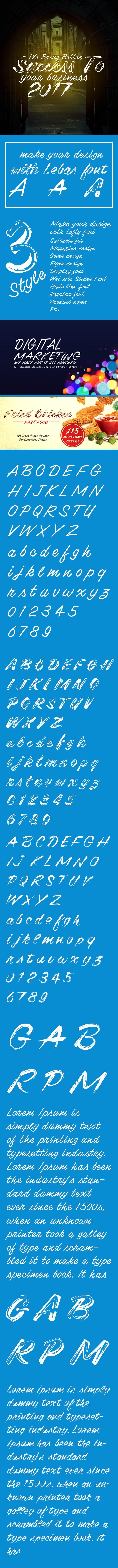 Lebas Font - Handwriting Fonts