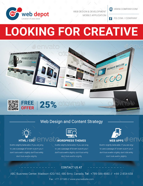 Web Design Flyer Templates By Graphicshaper | Graphicriver