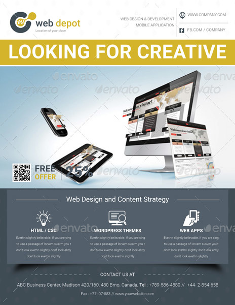 Web Design Flyer Templates By Graphicshaper Graphicriver