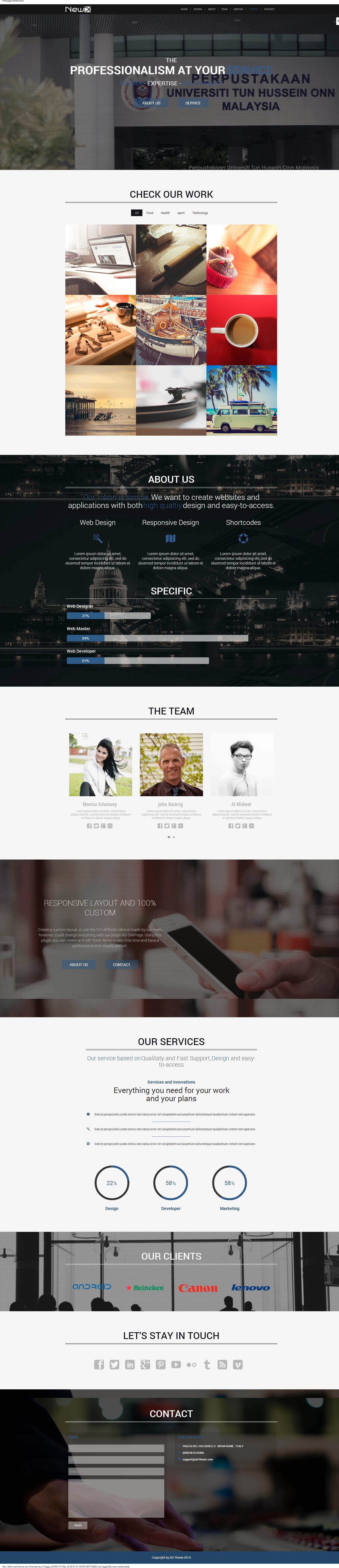 Parallax One Page Builder Wordpress Plugin