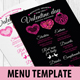 Valentine Menu Template - GraphicRiver Item for Sale