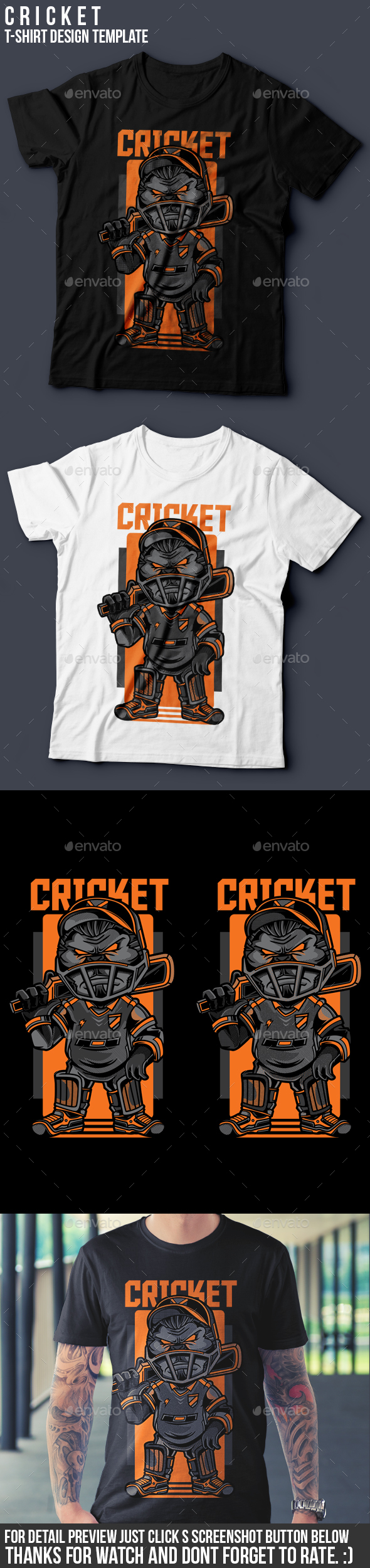 Cricket T-Shirt Design - Sports & Teams T-Shirts