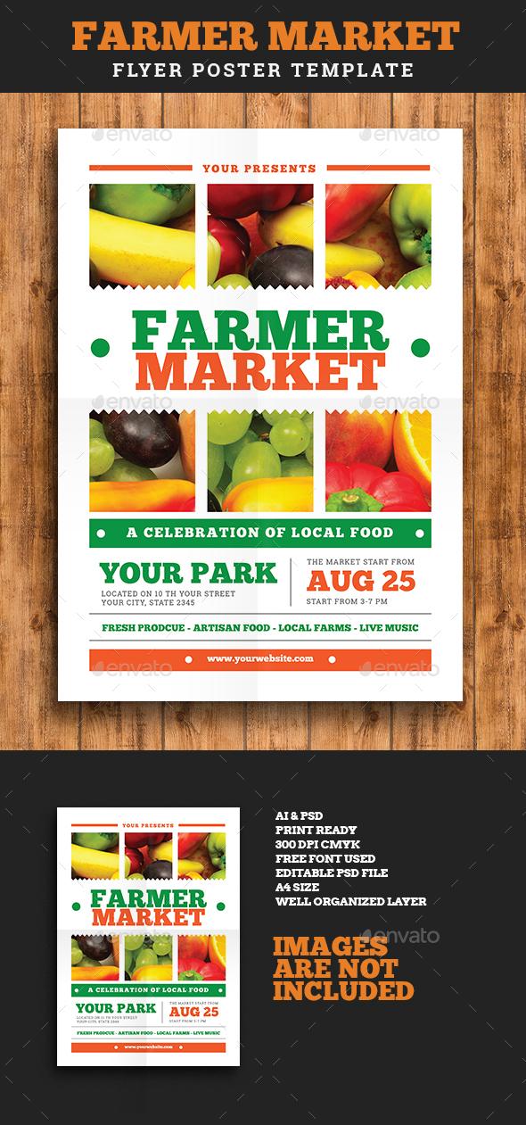 Farmer Market Event Flyer Vol 02 - Flyers Print Templates