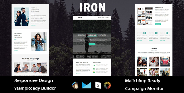 Iron - Multipurpose Responsive Email Template + Stampready Builder