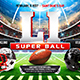 American Football Super Ball Flyer vol.5 - GraphicRiver Item for Sale