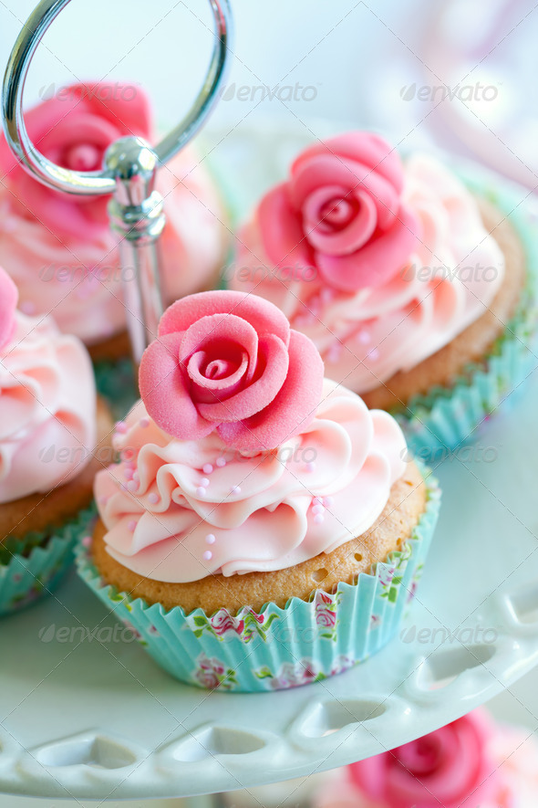 Vintage cupcakes - Stock Photo - Images