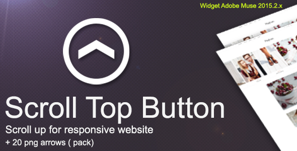 Scroll Top Button : For Responsive Websites+Bonus 20 png arrows - CodeCanyon Item for Sale