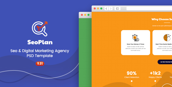 SeoPlan - SEO & Digital Marketing PSD Template - Technology PSD Templates