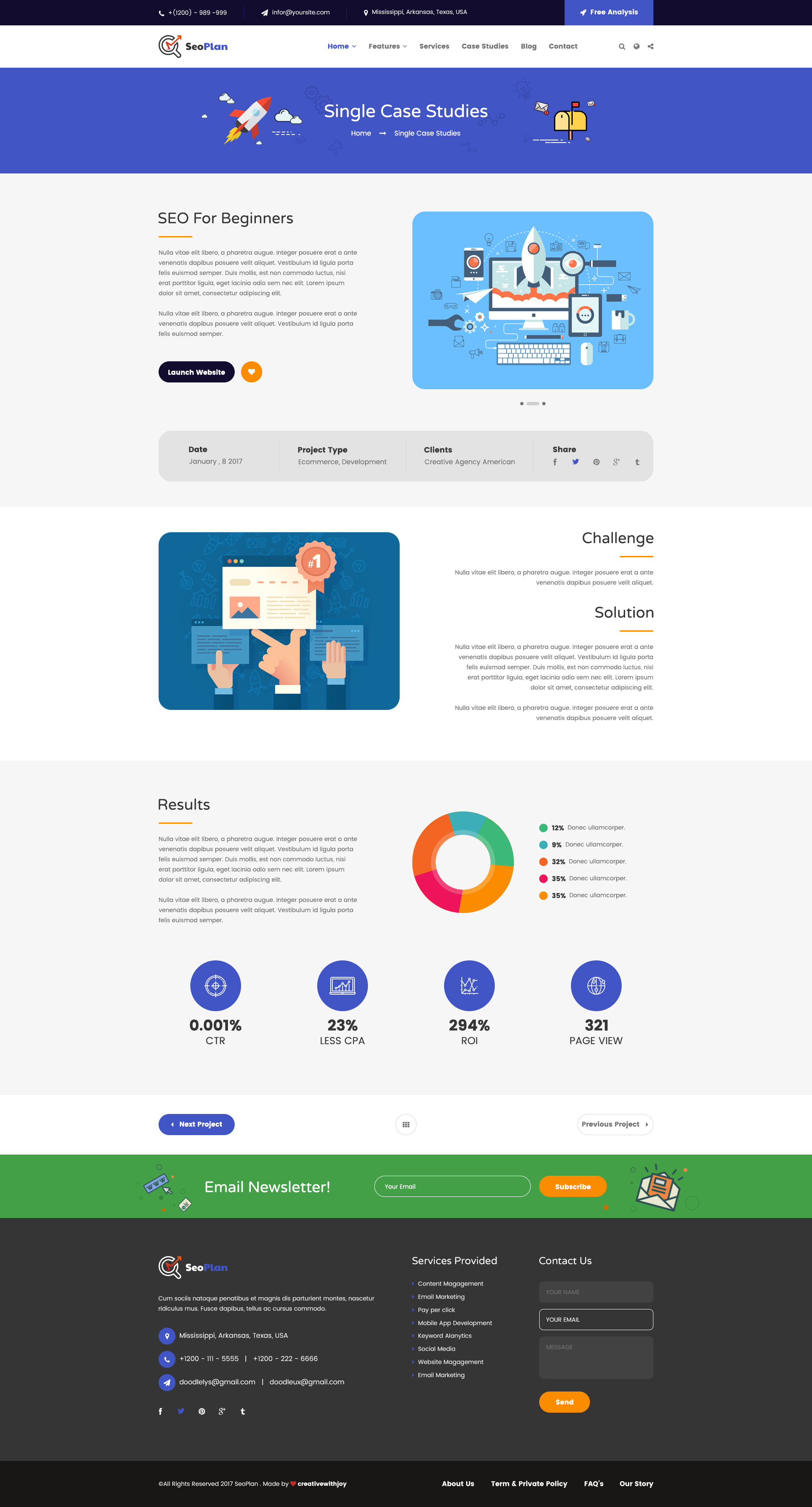 SeoPlan - SEO & Digital Marketing PSD Template by creativewithjoy ...