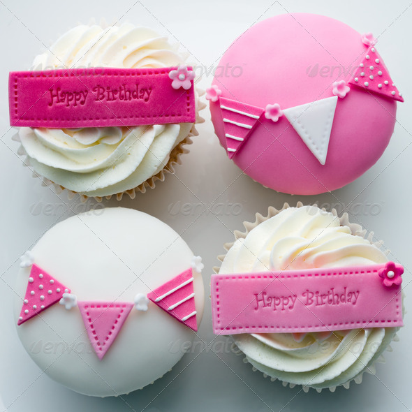 Birthday cupcakes - Stock Photo - Images