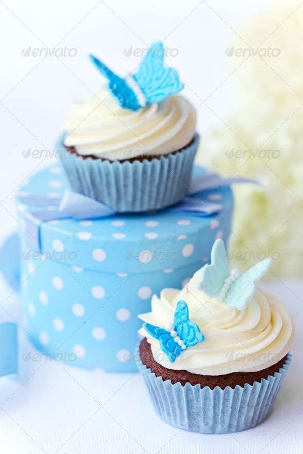 Butterfly cupcakes - Stock Photo - Images