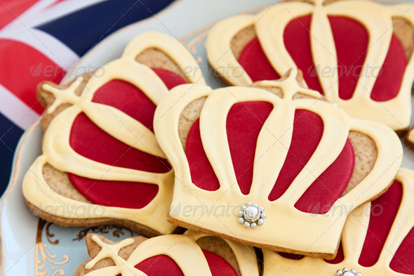 Royal wedding cookies - Stock Photo - Images