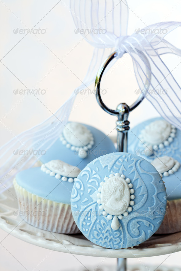 Cameo cupcakes - Stock Photo - Images