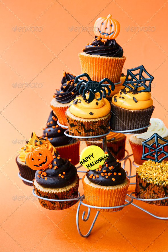Halloween cupcakes - Stock Photo - Images