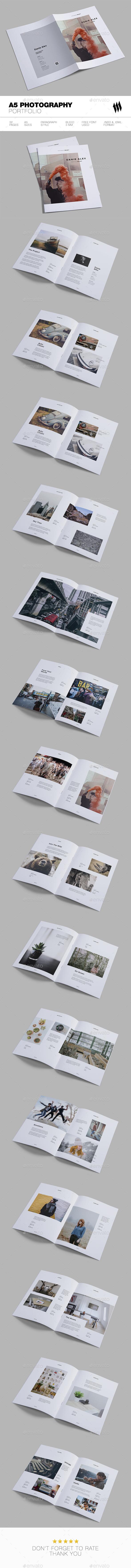 A5 Photographer Portfolio - Portfolio Brochures