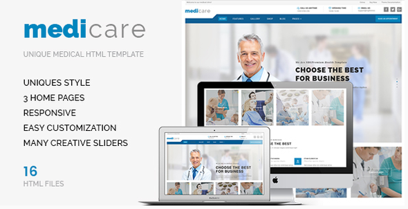 Medicare – An HTML Template For Doctors & Hospitals