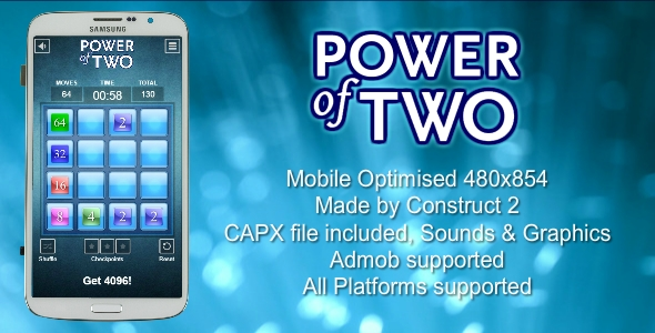 The Power of Two - HTML5 Game (.CAPX) - CodeCanyon Item for Sale