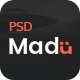Madu | Creative Multi-Purpose PSD Template - ThemeForest Item for Sale