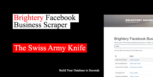 Brightery Facebook Business Scraper + User Accounts Module - CodeCanyon Item for Sale