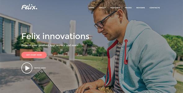 Felix. - App | Service | Product Landing Page Joomla Template