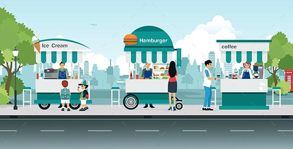 Street Food Cart - Food Objects