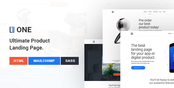 One – WordPress Product Landing Page