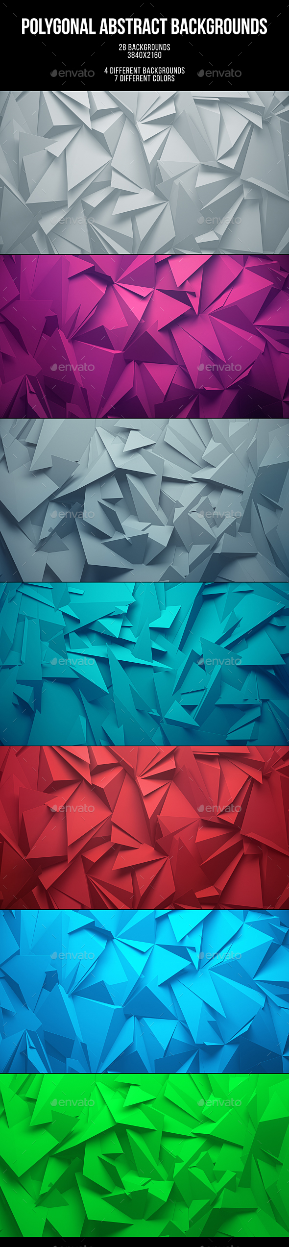 28 Polygonal Abstract Backgrounds