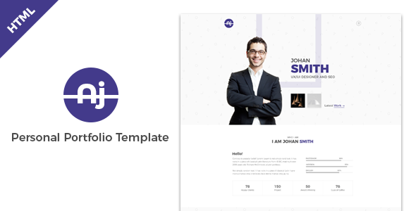 Aj – Personal Portfolio Template With SASS