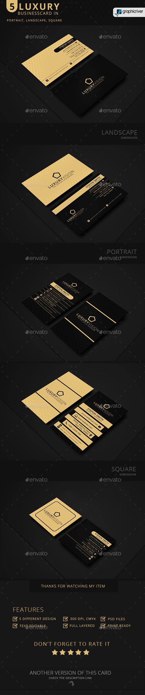 Luxury Vision Business Card - Business Cards Print Templates