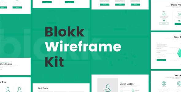 Blokk Wireframe Kit 170+ Screens - PSD Templates