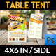 Breakfast Restaurant Table Tent Template - GraphicRiver Item for Sale