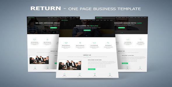 Return – One Page Business Template