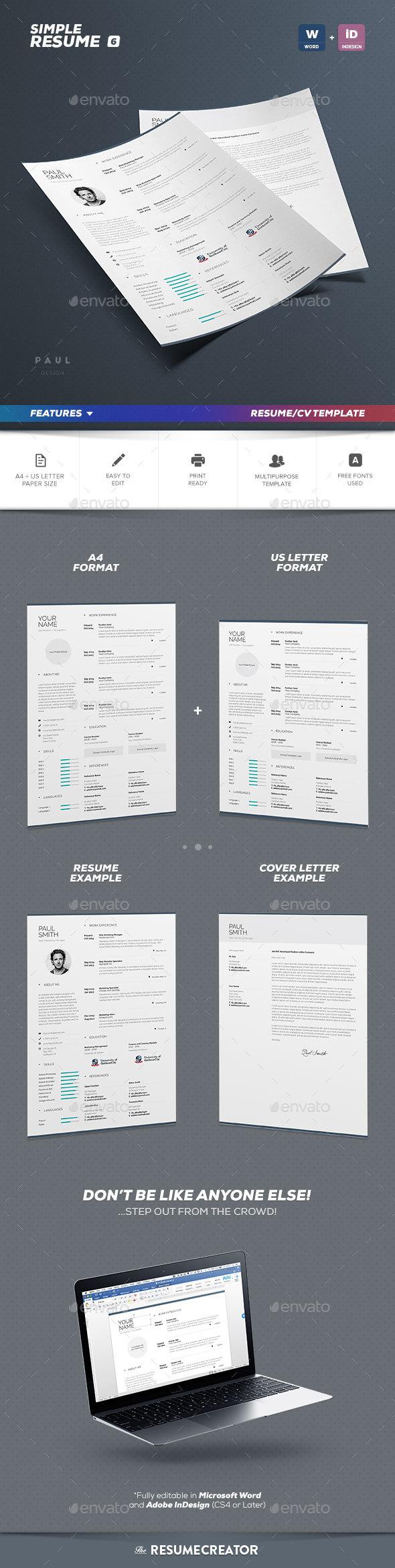 Simple Resume/Cv Volume 6 - Resumes Stationery