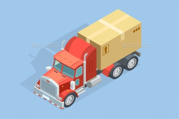 Heavy Truck Isometric Template - Man-made Objects Objects