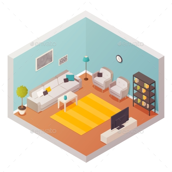 Living Room Design Composition - Buildings Objects