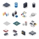 Semiconductor Components Icon Set - GraphicRiver Item for Sale