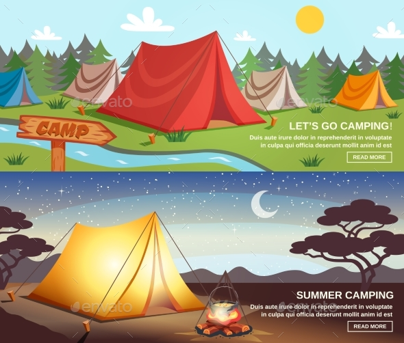 Camping Horizontal Banners - Sports/Activity Conceptual