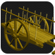 Low Poly Base Mesh Bullock cart (Cow cart)