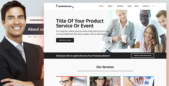 Xcorporation - Clean HTML5 Responsive Professional Business Website Template - Corporate Site Templates