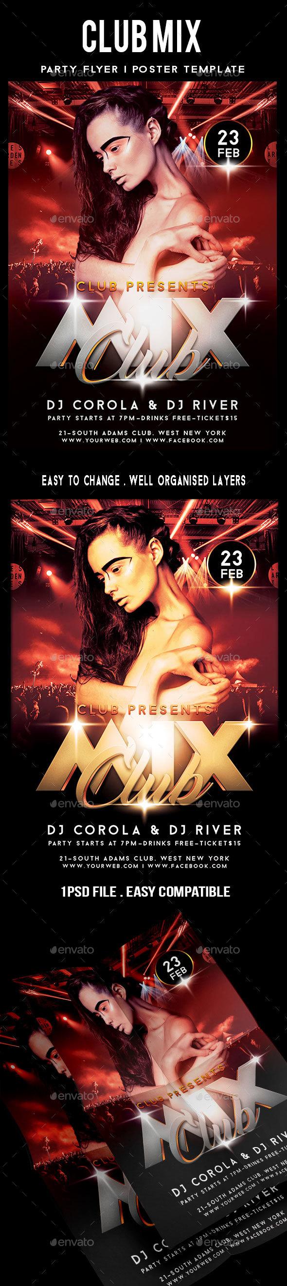Club Mix Party Flyer - Events Flyers