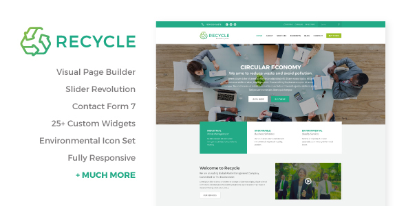 Recycle – Environmental & Recycling WordPress Theme