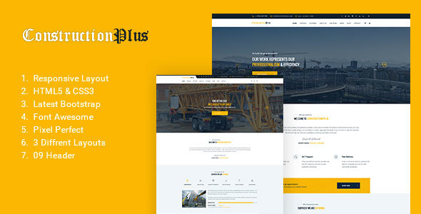 Construction Plus – Construction, Building & Maintenance Business Template