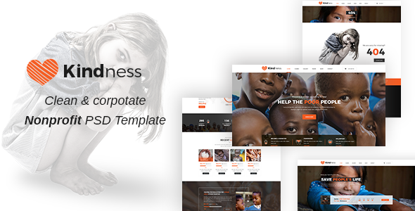 Kindness ||  Non-Profit, Charity & Donations PSD Template